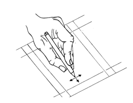 Fig. 3.8b Coordinated motion of fingers produces two translations